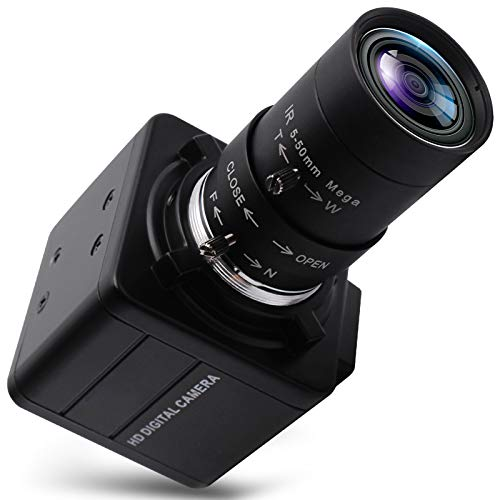 4K UHD USB Camera with Zoom,5-50mm 10X Optical Zoom Lens USB Webcam High Definition Mini Camera 3840x2160@30fps Adjustable Focal Length Camera for Tripod Mount with Sony IMX317 Sensor