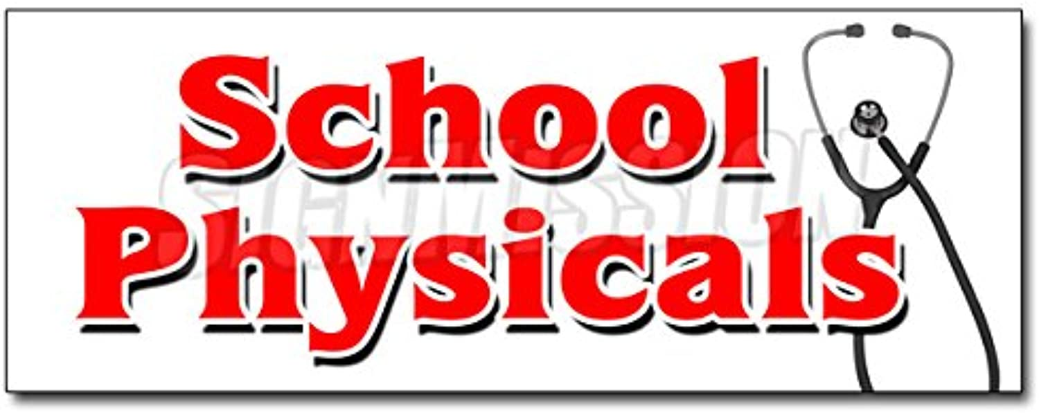 48  School PHYSICALS Decal Sticker no Appointment Walk-in flu Shots Health