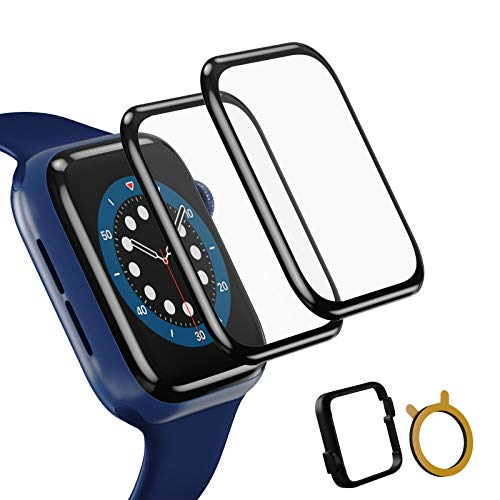 TopACE 2 Stück Schutzfolie kompatibel mit Apple Watch Series 6/SE/5/4 40mm Folie,3D-Vollabdeckung weiche Kante HD TPU Clear Anti-Scratch Bildschirmschutzfolie kompatibel mit Apple iWatch 40mm