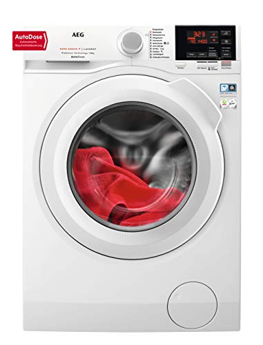 AEG L6FB68480 Waschmaschine / 8 kg / Waschvollautomat mit AutoDose - automatische Waschmitteldosierung / Mit Mengenautomatik, Nachlegefunktion, Schontrommel, Wifi Vernetzung / 1400 U/min
