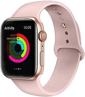 AdMaster Sport - Correa de repuesto para Apple Watch Sport, Series 4, Series 3, Series 2, Series 1, S/M M/L, 1.732in, 1.575in, 1.654in, 1.496in, silicona suave