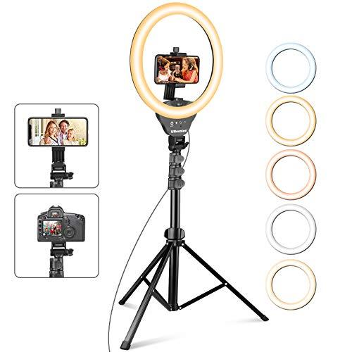 UBeesize 12'' Ring Light with Tripod, Selfie Ring...