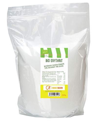 Bio Erythrit - Erythritol natürliche Zuckeralternative 2500g - von Zimmermann Sportnahrung