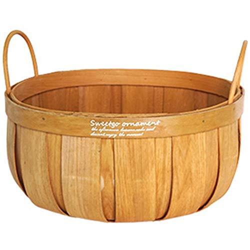 L.BAN Französisches Land Obstkorb Picknickkorb Kürbisförmige Holzkorb Dessert Tischdekoration