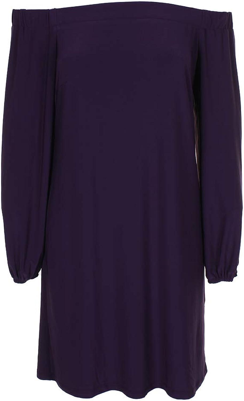 Inc International Concepts Purple OffTheShoulder Shift Dress S