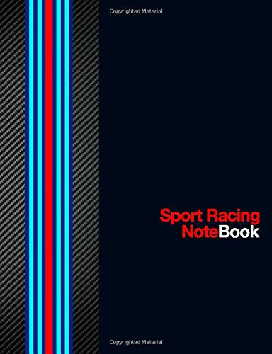 Sport Racing Notebook: Journal Diary Maintenance Log 120 Pages (60 sheets) Wide Lined Composition White Paper Carbon Fiber and Racing Sport Colors ... Gift Idea For Dads Moms Teens and Car Owners
