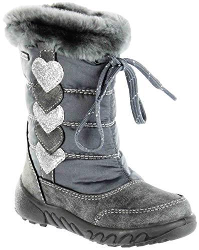 Richter Kinder Winter Stiefel grau Warm Sympatex Mädchen Schuhe 5153-641-6301 ash Husky, Farbe:grau, Größe:32 EU