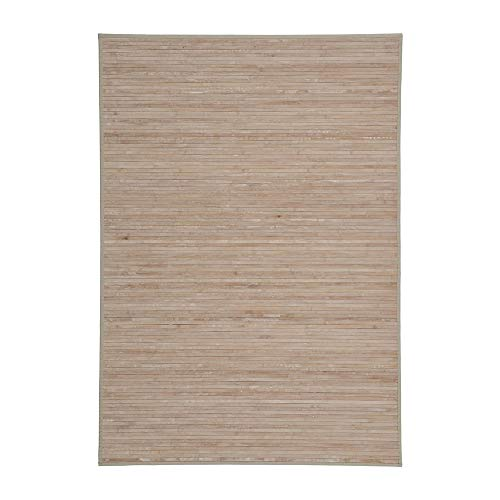 Alfombra de salón con Efecto Lavado de bambú Natural exótica de 200x140 cm - LOLAhome