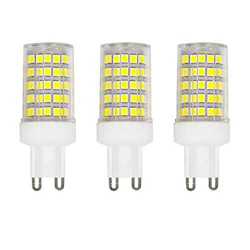 ZFQ Confezione da 3 Lampadine a LED G9 da 10W equivalenti a 150W Alogene, 86 LED, 1000Lm, Angolo di Diffusione 360°, Ultra Luminose, AC 220-240V, Non Dimmerabile, 6000K Bianco Freddo