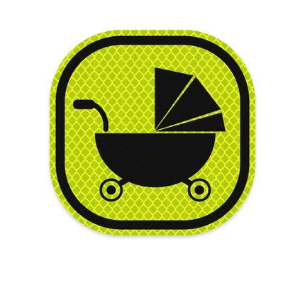 3M Car Decals Baby On Board Reflective Warning Strip Tape Sign Stickers Safety (Fluorescent Green)
