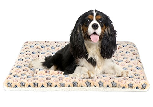 Price comparison product image Mora Pets Ultra Soft Pet (Dog / Cat) Bed Mat with Cute Prints / Reversible Fleece Dog Crate Kennel Pad / Machine Washable Pet Bed Liner (30-Inch,  Brown)