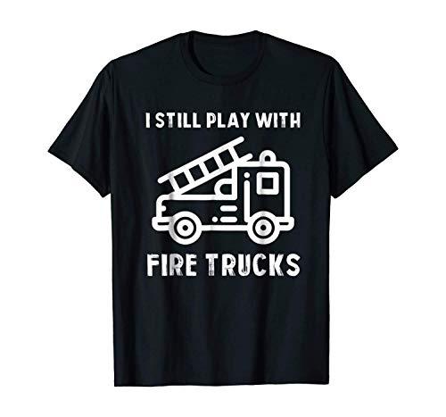BHTHUI Funny Firefighters T-Shirt | Firefighter Gift for Firemen T181120 Black