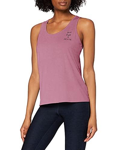 Amazon-Marke: AURIQUE Damen Yoga-Top mit Slogan und Rückenausschnitt, Violett (Purple Gumdrop), 36, Label:S