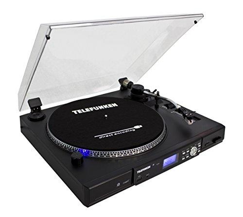 Telefunken TT100EM Plattenspieler (33/45 U/Min, USB-Anschluss)