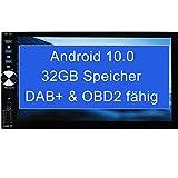 Tristan Auron BT2D7026A Android 10.0 Autoradio - 7' Touchscreen I mit Navi GPS Bluetooth Freisprechfunktion I 32GB ROM I WiFi USB SD I OBD 2 2 DIN