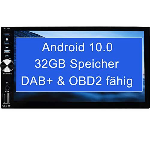 "Tristan Auron BT2D7026A Android 10.0 Autoradio - 7\"" Touchscreen I mit Navi GPS Bluetooth Freisprechfunktion I 32GB ROM I WiFi USB SD I OBD 2 2 DIN"