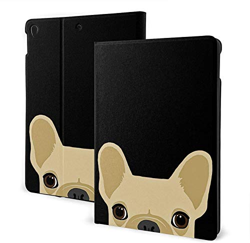 Boston Terrier and French Bulldog Case for New iPad 7th/8th Generation, iPad 10.5Case, Slim Stand Hard Back Shell Protective Smart Cover Case with Auto Sleep/Wake Feature