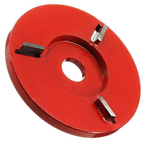 Feeilty houtsnijwerk schijf voor houten steek 4-tandfrees voor 16mm diafragma haakse slijper kreisförmig rood