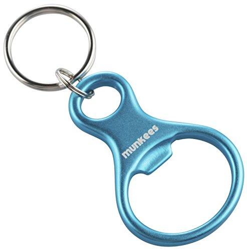 munkees Schlüsselanhänger Achter mit Flaschenöffner aus hochwertigem Aluminium, Schlüsselring, Blau, 34076