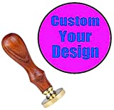 Customized Your Personalized Name Logo Design Wax Seal Stamp YGHM Natural Rosewood Handle Sealing Vintage Wedding Invitations Wax Stamp Kit Gift