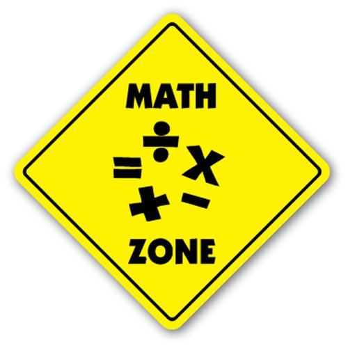 [SignJoker] MATH ZONE Sign mathematics class teacher geek student gift Wall Plaque Decoration
