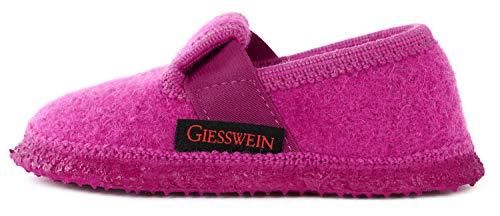 GIESSWEIN Hausschuh Türnberg - geschlossene Kinder-Hausschuhe aus Wollfilz | warme Pantoffeln für Mädchen & Jungen | rutschfeste Gummi Sohle | Filzpantoffeln