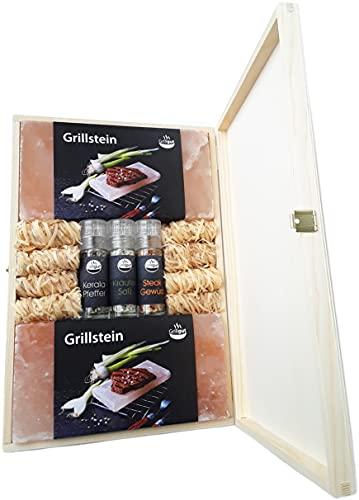 GRILLGUT* Salzstein (2X) mit 3...