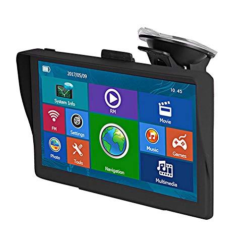 Navegación GPS para automóvil, sistema de navegador satelital GPS con pantalla capacitiva de 7 pulgadas para vehículos con advertencia de cámara de velocidad POI, recordatorio de dirección de giro de