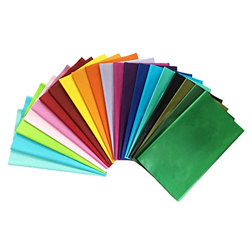 iKesoce 100 Fogli di Carta Velina Colorata di 20 Colori Carta di Velina da Imballaggio Carta Riutilizzabile per Confezioni Regalo Riempitivi per Scatole, 30x50cm