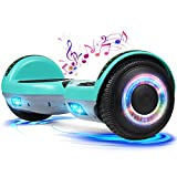 YHR Hoverboard with Bluetooth Speaker LED Lights, 6.5inch Self Balancing Hover board for Adults Kids Ages 6+ with UL2272 Certified