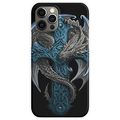 Dragons Celtic Cross Mythical Dragon Blue Cool and - Phone Case for All of iPhone 12, iPhone 11, iPhone 11 Pro, iPhone XR, iPhone 7/8 / SE 2020 - Customize