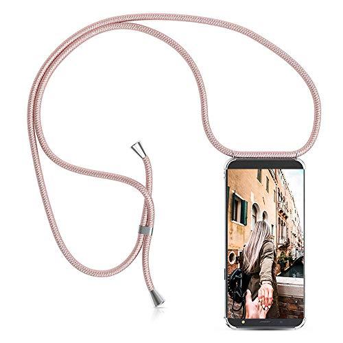 Handykette Handyhülle mit Band für Samsung Galaxy J3 2017 Cover - Handy-Kette Handy Hülle mit Kordel Umhängen -Handy Halsband Lanyard Case/Handy Band Halsband Necklace