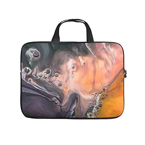 Facbalaign Funda para portátil de arte con diseño de gouache psicodélico, con patrón de mármol suave, resistente al desgaste, con asa.