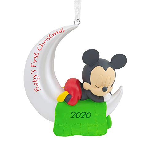 Hallmark Ornament 2020 Year-Dated, Disney Mickey Mouse Baby's First Christmas
