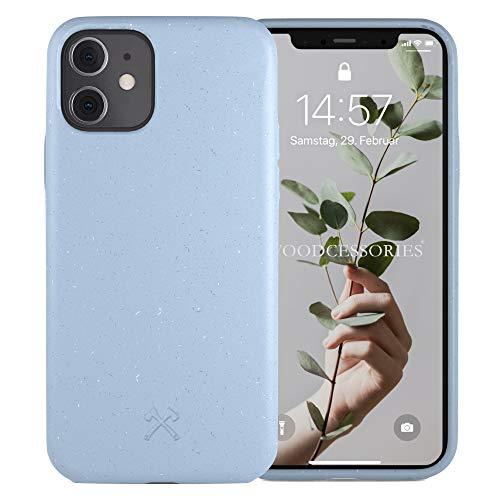 Woodcessories - Antibakterielle Bio Hülle kompatibel mit iPhone 11 Hülle hellblau, iPhone XR Hülle hellblau - Plastikfrei, nachhaltig