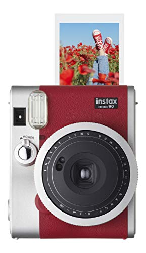 Fujifilm Instax Mini 90 Neo Classic Camera, Instant Film Camera, USA - Red