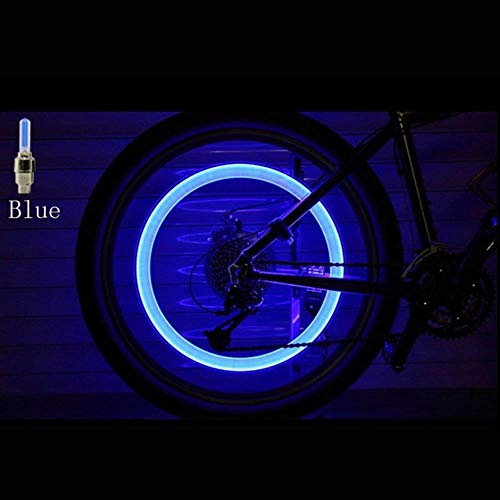 Tyre Valve Cap Lights 2 Stuks Fiets Led Lights Knipperende Weg Mountainbike Fiets Hub Lights