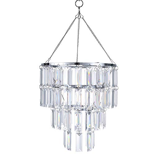 Modern Chandelier Faux Crystal Fixture Pendant Ceiling Lamp Shade,10.25' D X11.5' H, Wedding Chandeliers Centerpieces Decoration and any Event Party Home Dining Room Bathroom Bedroom Living room Decor