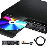 Gueray Reproductor DVD HDMI-Compatible para Televisión Portátil Reproductor de DVD de Toda la región con resolución HD 1080P con USB 2 Mic Puerto y Control Remoto