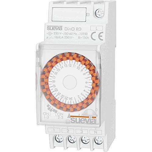 Suevia Zeitschaltuhr für Hutschiene Betriebsspannung: 230 V/AC Dino RD 1 Wechsler 16A 250 V/AC Tage