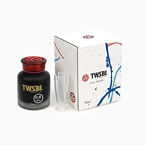 Twsbi Ink Black 70 ml - Inchiostro per penne stilografiche nero