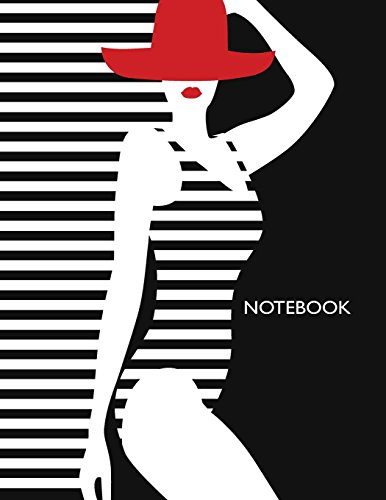 notebook: Hot girl on black cover and Dot Graph Line Sketch pages, Extra large (8.5 x 11) inches, 110 pages, White paper, Sketch, Notebook journal (Hot girl on black notebook, Band 1)