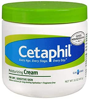 Cetaphil Fragrance Free Moisturizing Cream, 16-Ounce Jars (Pack of 2)