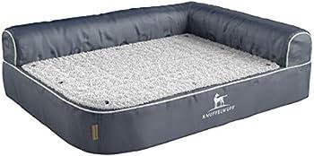 Knuffelwuff Panier orthopédique pour chien lit pour chien Arizona gris 120 x 80cm
