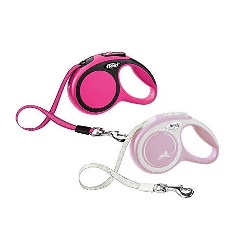 flexi Hundeleine, einziehbar, 3 m, extra klein, Pink / Rosa