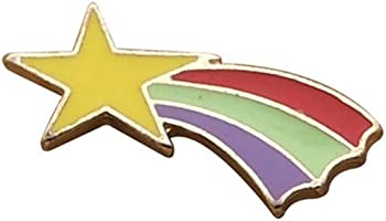 Loweryeah Novelty Enamel Pin Badge Summer Cartoon Animal Plant Fruit Star Rainbow Brooch for Women and Girls