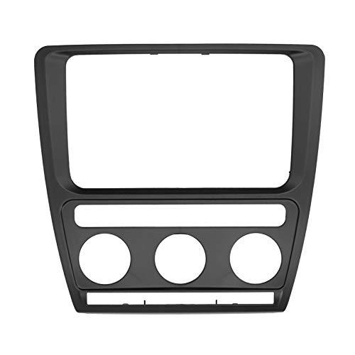 Radio con marco de DVD para automóvil, Universal 2 Din PST Fascia gruesa Fascia para automóvil Montaje en tablero Navegación con DVD Ajuste de audio para Sko-da Octavia 2004-2010