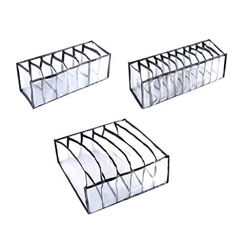 Faltbox Organizer Schubladen Ordnungssystem, Aufbewahrungsbox Stoff Faltbar Kleiderschrank für BHS,Socken, Unterhosen Zubehörteile Sortiersystem Schrank (Schwarz)