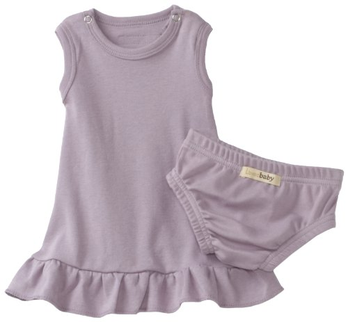 L'ovedbaby Baby-Girls Newborn (up to 7 lbs.) Baby-Doll Dress, Lavender, Newborn (up to 7 lbs.)