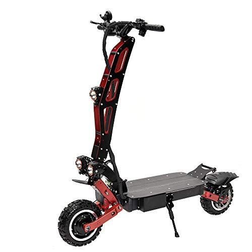 Vespa eléctrica todoterreno, scooter plegable de dos ruedas para adultos, scooter eléctrico delantero y trasero del freno de aceite (60V25AH), duración de la batería 40-50KM